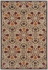 Safavieh Infinity INF560B Brown and Beige