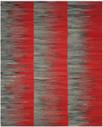 Safavieh Kilim KLM819C Red and Charcoal