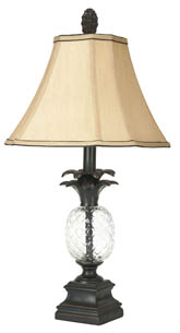 ALANNA GLASS PINEAPPLE LAMP