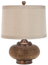 ALEXIS GOLD BEADED TABLE LAMP