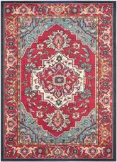 Safavieh Monaco MNC207C Red and Turquoise