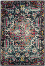 Safavieh Monaco Mnc213d Pink And Multi Area Rug Free