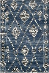 Safavieh Moroccan MOR553B Blue and Black