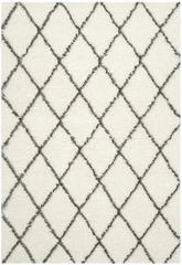 Safavieh Moroccan Shag MSG343A Ivory and Grey