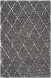 Safavieh Moroccan Shag MSG343B Grey and Ivory