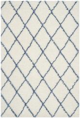 Safavieh Moroccan Shag MSG343C Ivory and Blue
