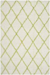 Safavieh Moroccan Shag MSG343D Ivory and Green