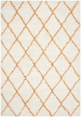 Safavieh Moroccan Shag MSG343F Ivory and Tangerine