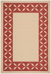 Safavieh Martha Stewart MSR4257-18 Mallorca Border Creme and Red