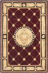 Safavieh Naples NA523A Burgundy and Ivory