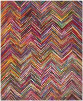 Safavieh Nantucket NAN141A Pink and Multi