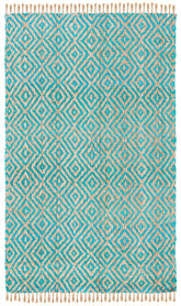 Safavieh Natural Fiber NF266C Turquoise and Natural