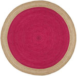 Safavieh Natural Fiber NF801C Fuchsia and Natural