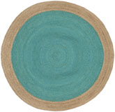 Safavieh Natural Fiber NF801E Teal and Natural