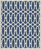 Safavieh Newport NPT434C Royal Blue and White