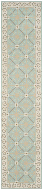 Safavieh Newport NPT443D Aquamarine and Beige