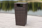 BAKER OUTDOOR WICKER TRASH BIN