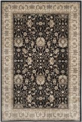 Safavieh Persian Garden PEG607B Black and Ivory