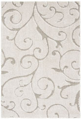 Safavieh Florida Shag SG455-1113 Cream and Beige