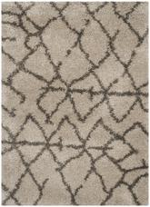 Safavieh Belize Shag SGB482D Taupe and Grey