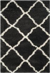 Safavieh Belize Shag SGB489C Charcoal and Ivory