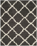Safavieh Dallas Shag SGD257A Dark Grey and Ivory