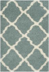 Safavieh Dallas Shag SGD257C Light Blue and Ivory