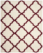 Safavieh Dallas Shag SGD257R Ivory and Red