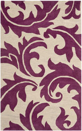 Safavieh Soho SOH841B Purple and Beige