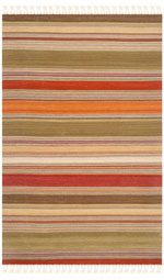 Safavieh Striped Kilim STK317A Green