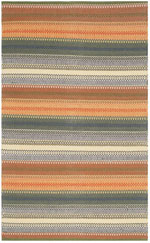 Safavieh Striped Kilim STK412A Gold and Grey