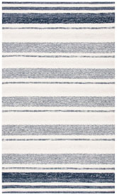 Safavieh Striped Kilim STK502A Ivory and Navy