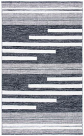 Safavieh Striped Kilim STK506A Ivory and Black