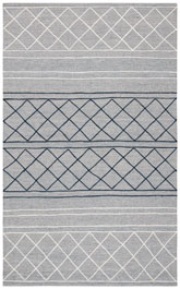 Safavieh Striped Kilim STK507G Silver and Grey