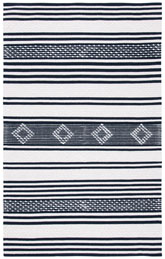 Safavieh Striped Kilim STK511Z Black and Ivory