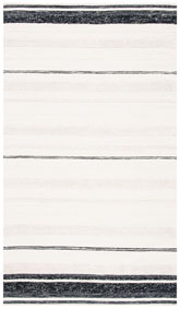 Safavieh Striped Kilim STK512A Ivory and Black