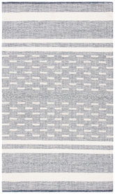 Safavieh Striped Kilim STK515N Navy and Ivory