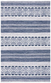 Safavieh Striped Kilim STK522N Navy and Ivory