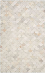 Safavieh Studio Leather STL311A Ivory and Grey