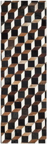 Safavieh Studio Leather STL511A Brown and Ivory