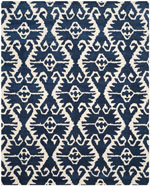 Safavieh Wyndham WYD323C Royal Blue and Ivory