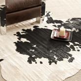 Safavieh Cow Hide COH211B Black and White