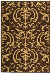 Safavieh Courtyard CY2663-3409 Chocolate and Natural