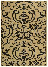 Safavieh Courtyard CY2663-3901 Sand and Black
