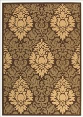 Safavieh Courtyard CY2714-3409 Chocolate and Natural