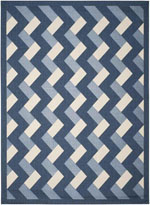Safavieh Courtyard CY7430258A3 Navy and Beige