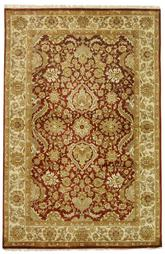 Safavieh Dynasty DY252A Rust and Ivory