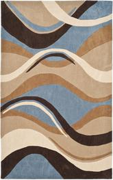 Safavieh Modern Art MDA617A Blue and Brown