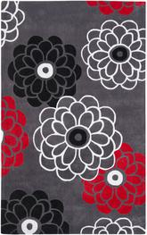 Safavieh Modern Art MDA620A Dark Grey and Multi