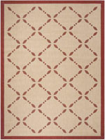 Safavieh Martha Stewart MSR425218 Creme and Red